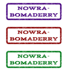 nowra-bomaderry watermark stamp vector image vector image