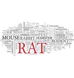 rat word cloud concept vector image vector image