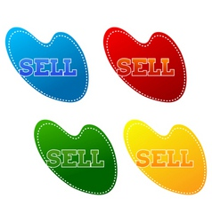 retail sell signs vector image vector image
