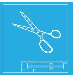 Scissors sign white section of icon vector