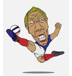 soccer player France vector image vector image