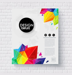 Stylish business design template on a brick wall vector image