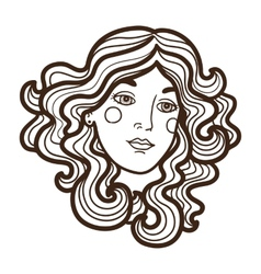 Stylish woman face vector