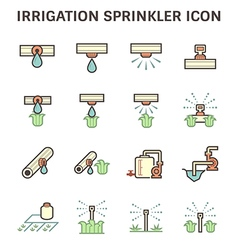 Water sprinkler icon vector