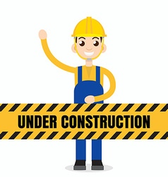 Under construction people vector