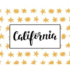 California modern calligraphy vector image