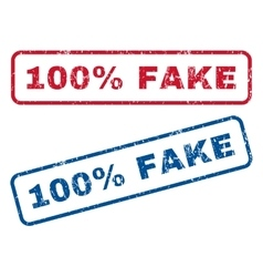 100 percent fake rubber stamps vector