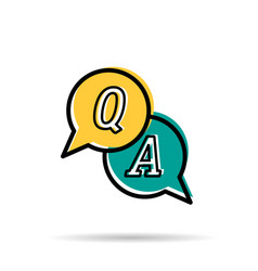 line icon - questions and answers vector image