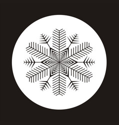 Snowflake icon gray silhouette snow flake sign vector