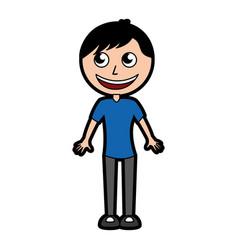 Cute body man cartoon vector
