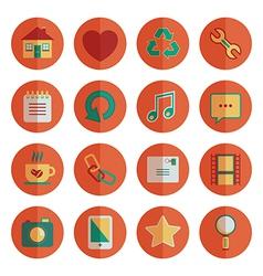 Round media icons vector