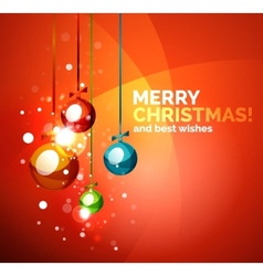 Colorful bright shiny Chrismas card vector image