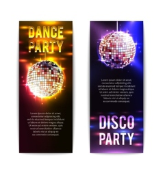 Disco party banners vertical vector