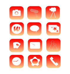 Phone icons 12 pieces vector
