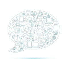 Social Media Bubble vector image
