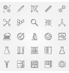 Biotechnology icons set vector
