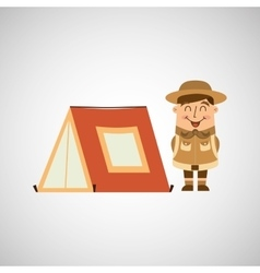 People person man boy scout camp vector