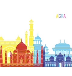 agra skyline pop vector image