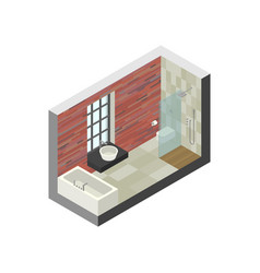 Bathroom in isometric view vector