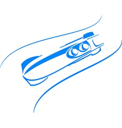 bobsleigh in blue vector image vector image