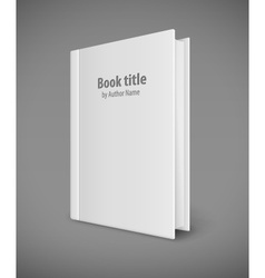 Book template with white cover vector image vector image