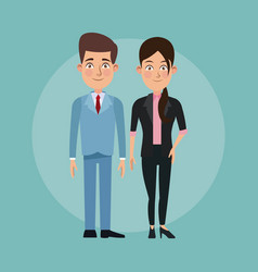 Color background full body set pair of elegant vector