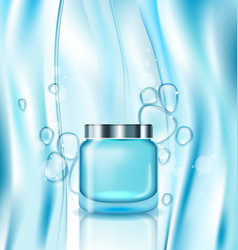 Cosmetic ad cream in turquoise tube vector