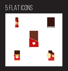 Flat icon bitter set of sweet chocolate shaped vector