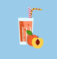 Fresh peach juice drink vector