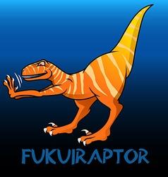 Fukuiraptor cute character dinosaurs vector