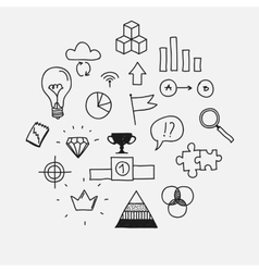 Hand draw doodle elements business scetches vector