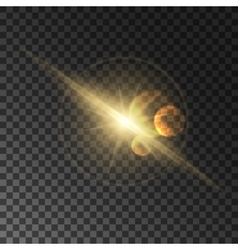 Light flash with lens flare effect vector image vector image