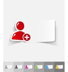 realistic design element add contact vector image