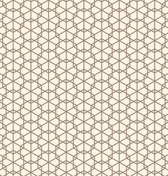 Seamless abstract geometric line hexagon vector image