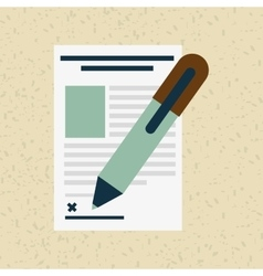 signing contract design vector image