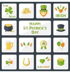 St Patricks Day set vector image