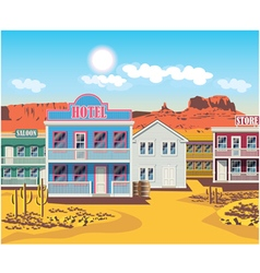 Wild west houses vector