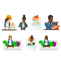 Set of pregnancy and parenthood vector