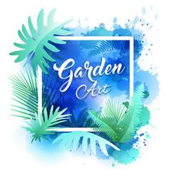 garden leaf design water color style vector image
