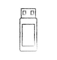 Usb memory isolated icon vector