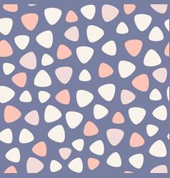 Geometric spots seamless pattern blue pink vector
