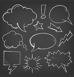 Comic Speech Bubbles with chalk effect vector image