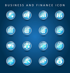 Business and Finance set of icon vector image