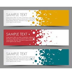 Simple colorful horizontal banners - with circle vector image