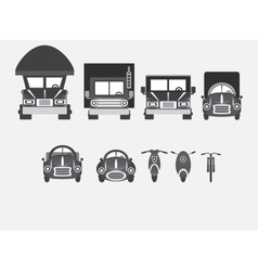 Vehicles of various types vector