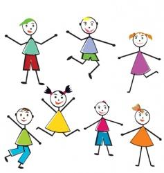 doodle children vector image