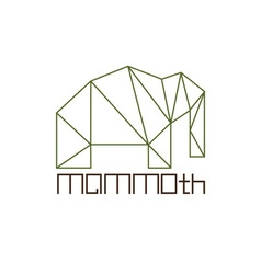 Mammoth in polygon line craft style vector