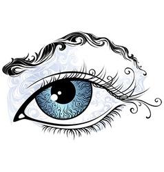 Vintage eye vector image