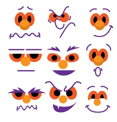 Cartoon face expressions vector