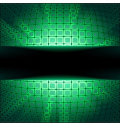 sphere with green illumination vector image